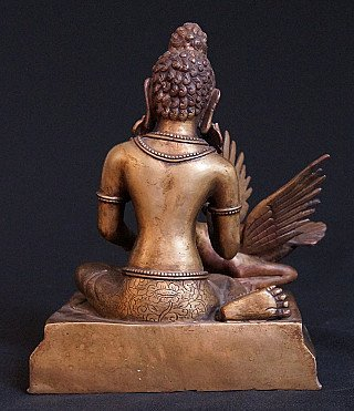 Old bronze Siddhartha statue