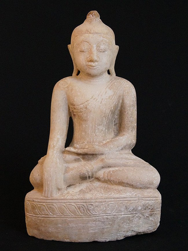 Antique marble Shan Buddha