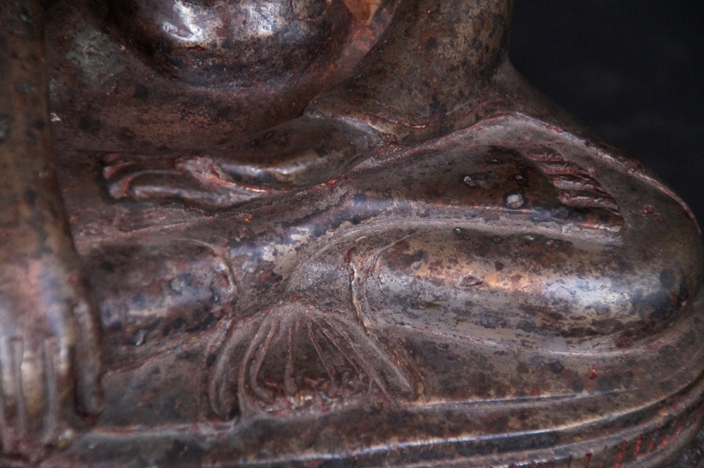 Superb. 14-15th century Toungoo Buddha from Burma made from Bronze