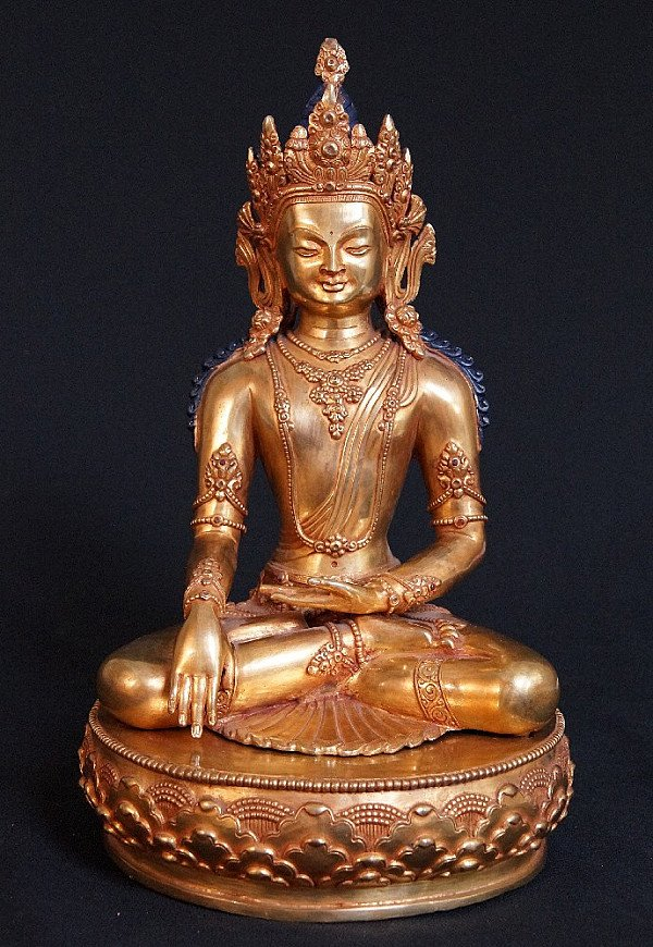 Bronze Nepali Crowned Buddha