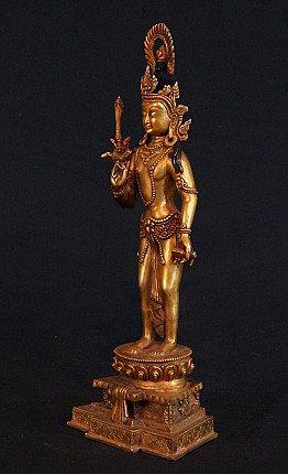 Bronze Tibetan Manjushree statue