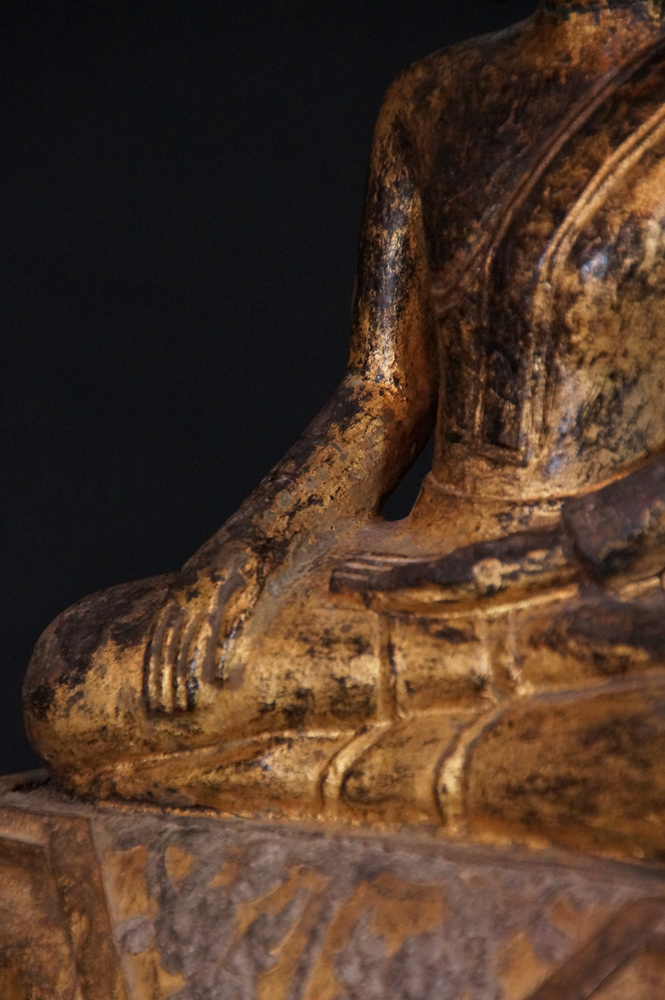 Antique Ratanakosin Buddha from Thailand made from Wood
