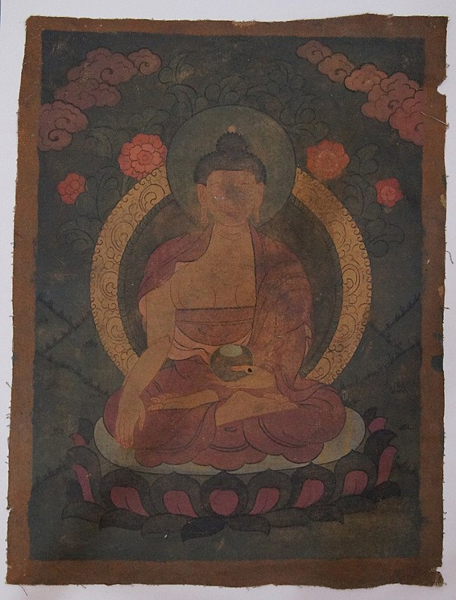 Old Buddha Thangka