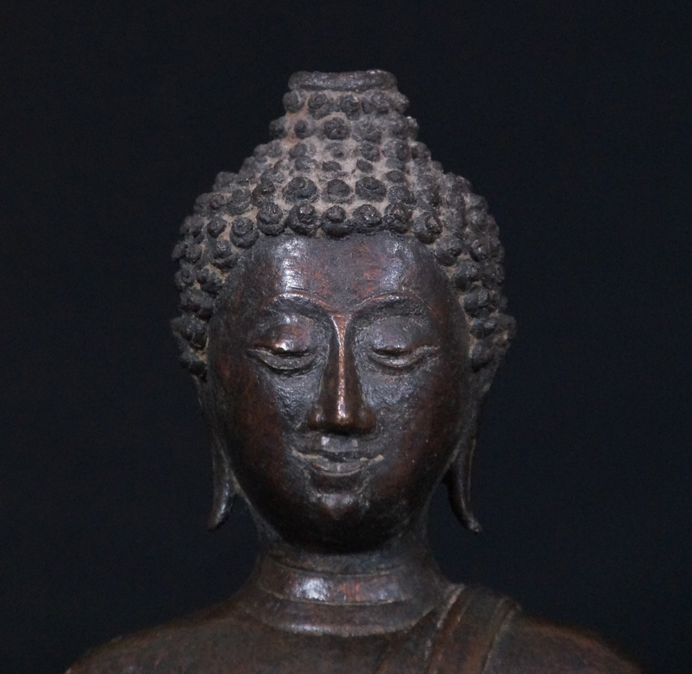 14-15th century Thai Buddha from Thailand made from Bronze