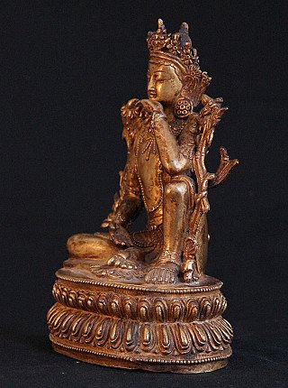 Old bronze Bodhisattva