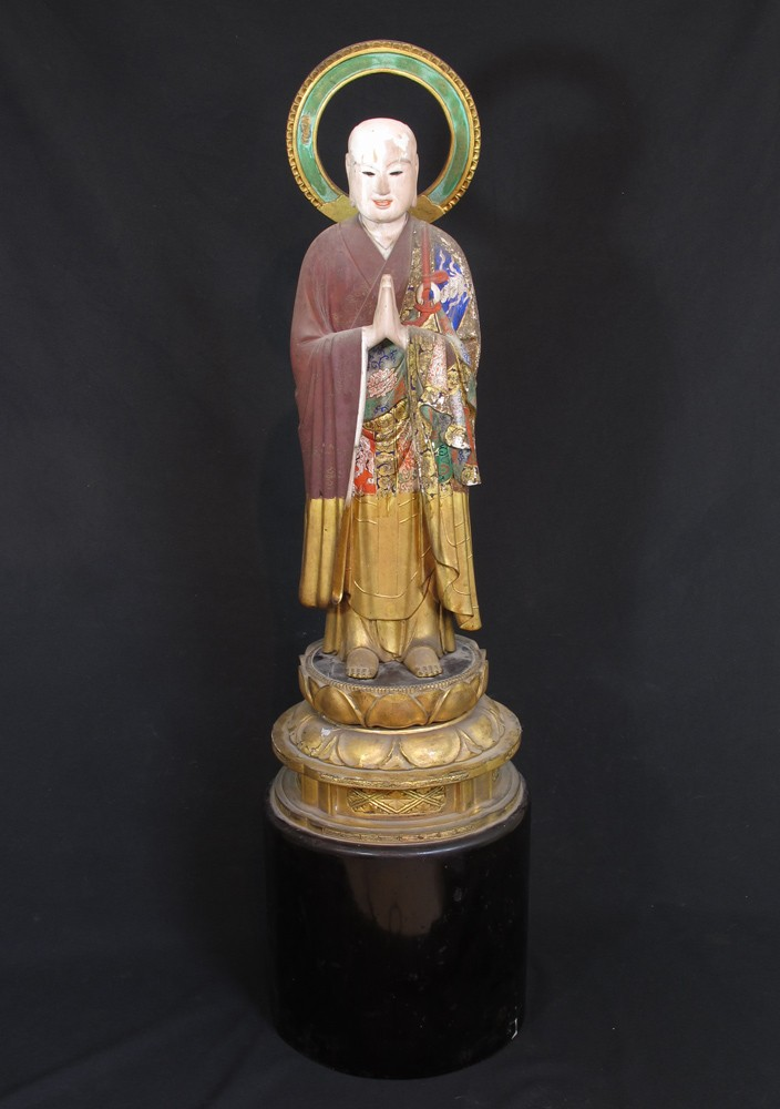 Large antique Jizo statue from Japan