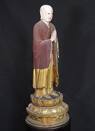 Large antique Jizo statue