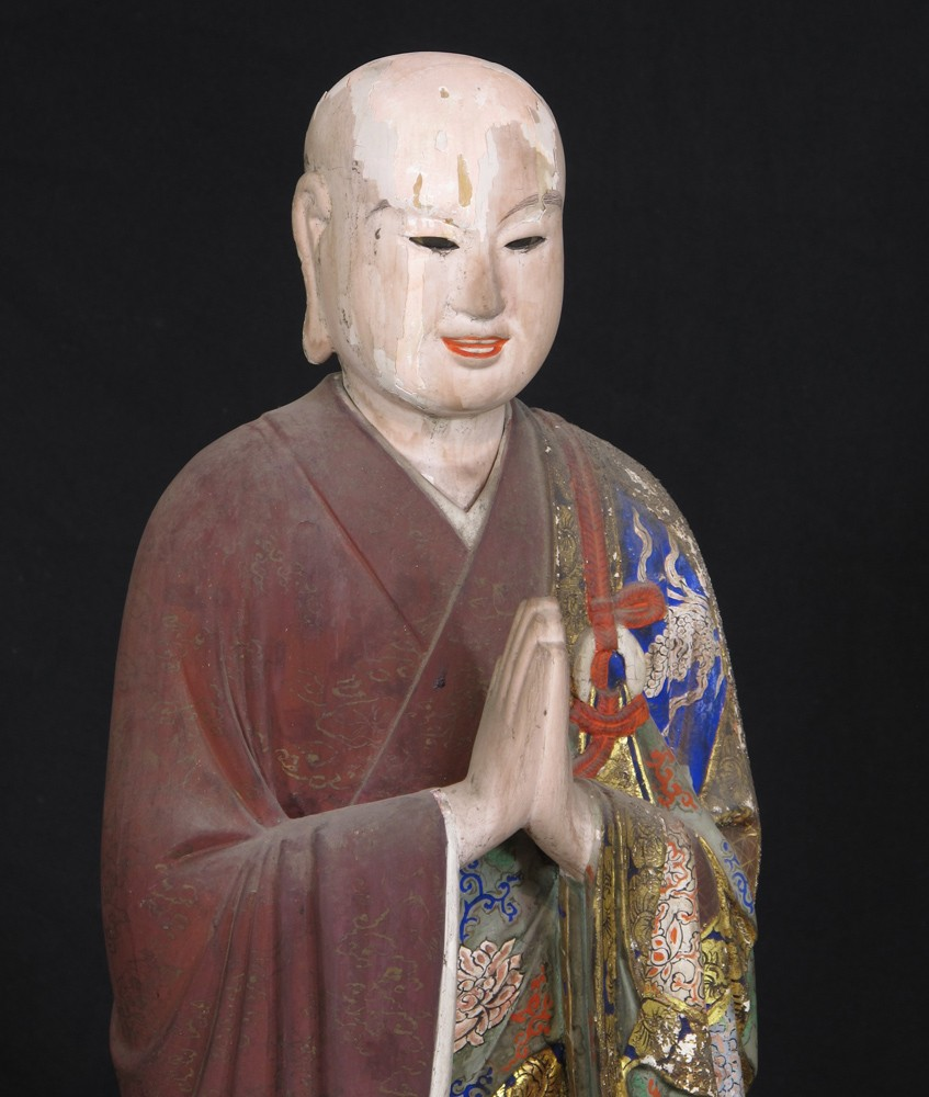 Large antique Jizo statue from Japan made from Wood