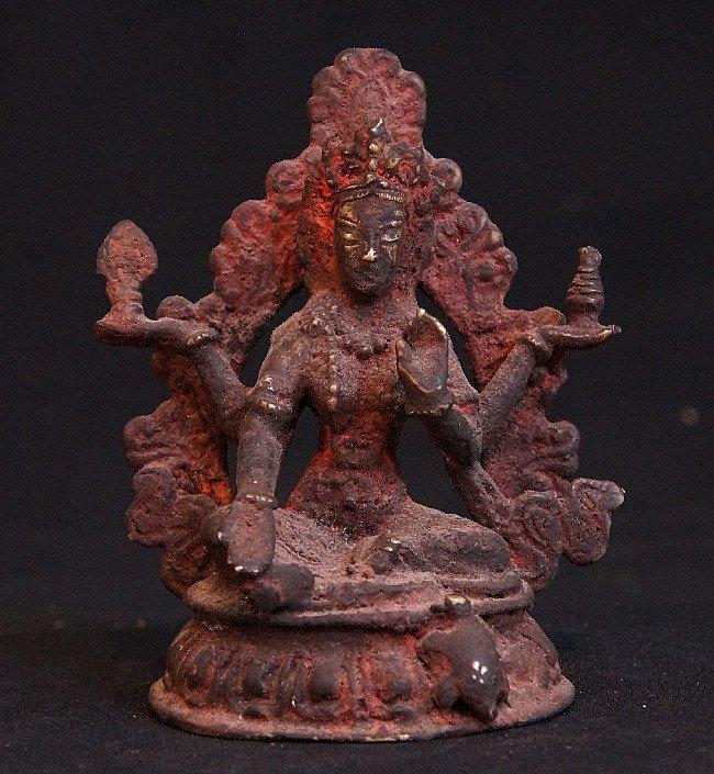 Antique Nepali Goddess Laxmi