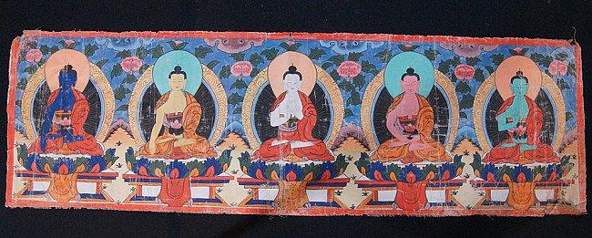 Old Buddha Thangka