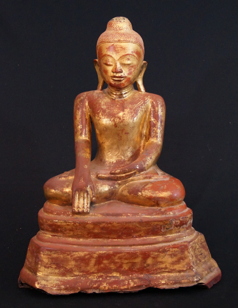 Antique lacquer Buddha from Burma