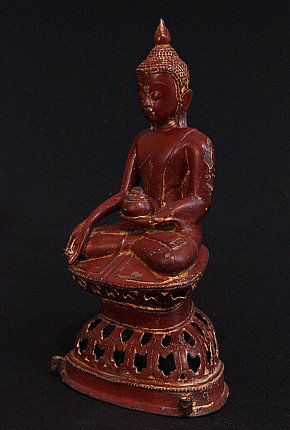 Special antique bronze Ava Buddha