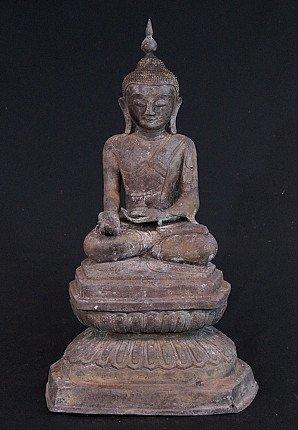 Oude bronzen Boeddha