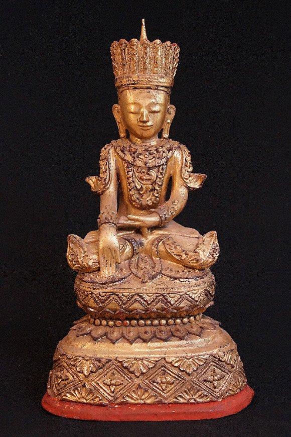 Old Burmese crowned Buddha