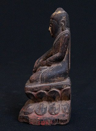 Antique Dakhina - Lotus Buddha