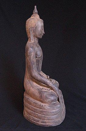 Old bronze Burmese Buddha