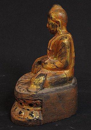 Antique wooden Buddha