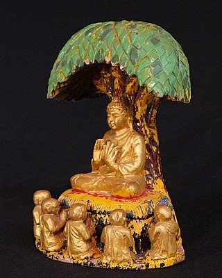 Old Buddha under the Bodhi tree