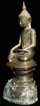 Antieke bronzen Shan Boeddha