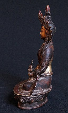 Old bronze Buddha Aparmita