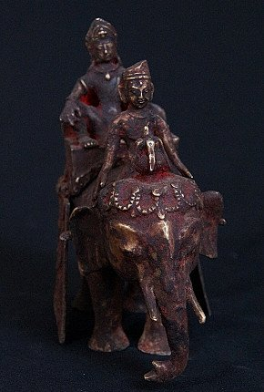 Antique Indra statue