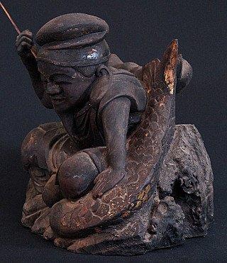Antiek Japans Ebisu beeld