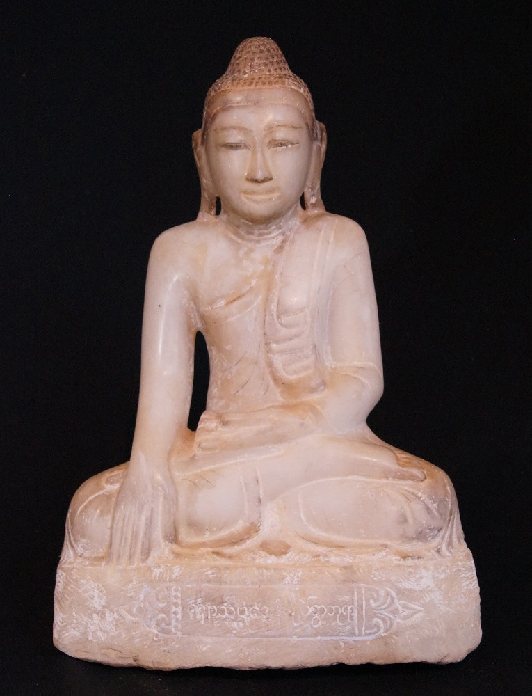 Antique Burmese Mandalay Buddha from Burma made from Marble
