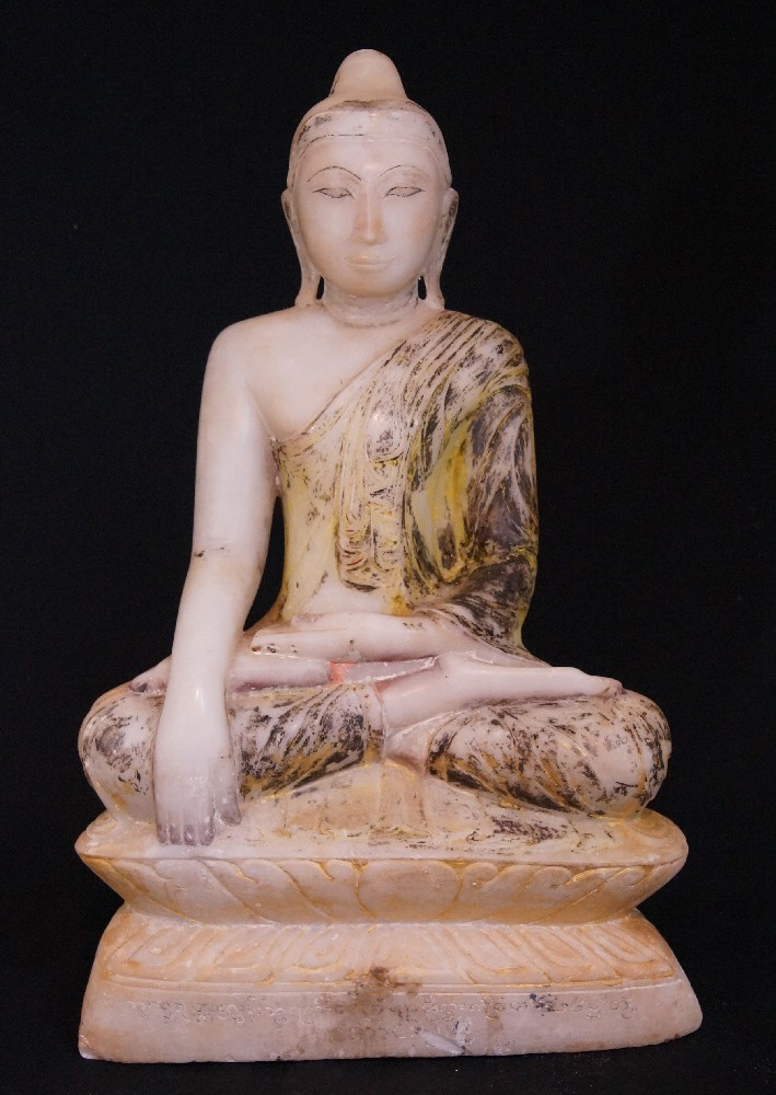 18th century Alabaster Buddha from Burma