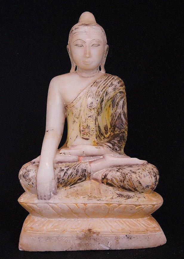 18e eeuwse Alabaster Boeddha