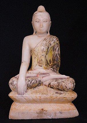 18th century Alabaster Buddha