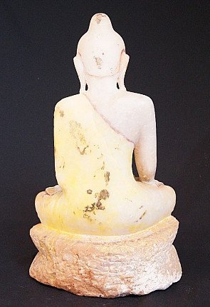 18th century Alabaster Buddha
