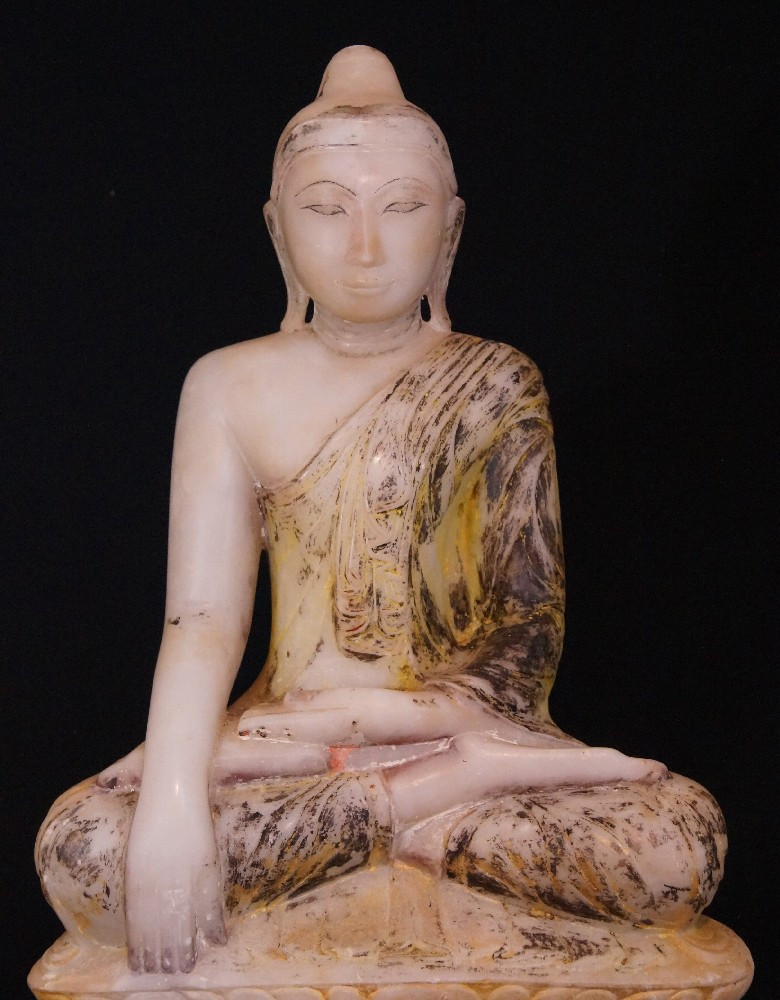 18th century Alabaster Buddha from Burma made from Marble