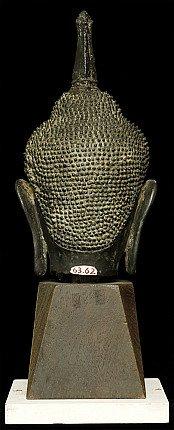 14. Jh. Thai Utong-B Buddha kopf