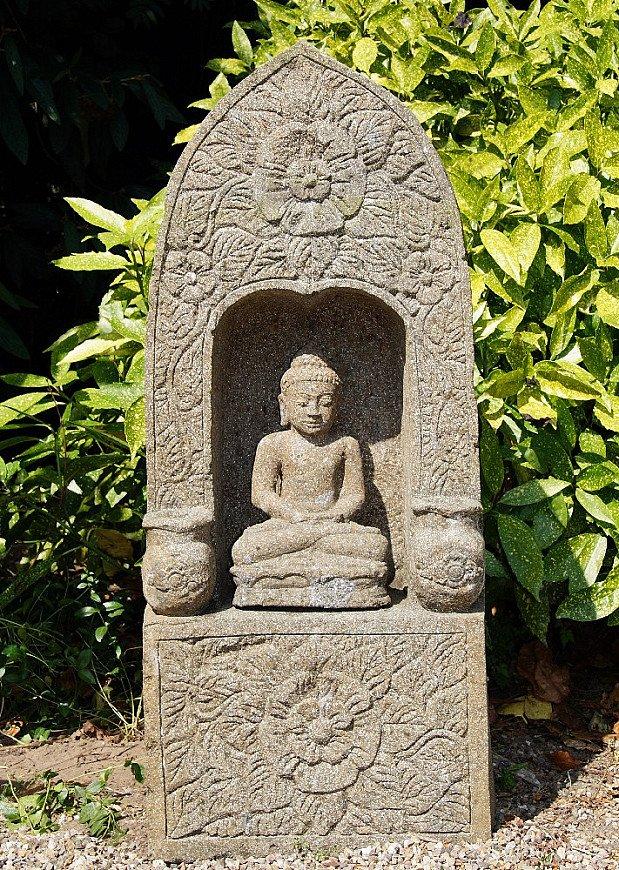 Lavastone Buddha shrine