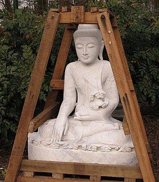 Large marble Buddha