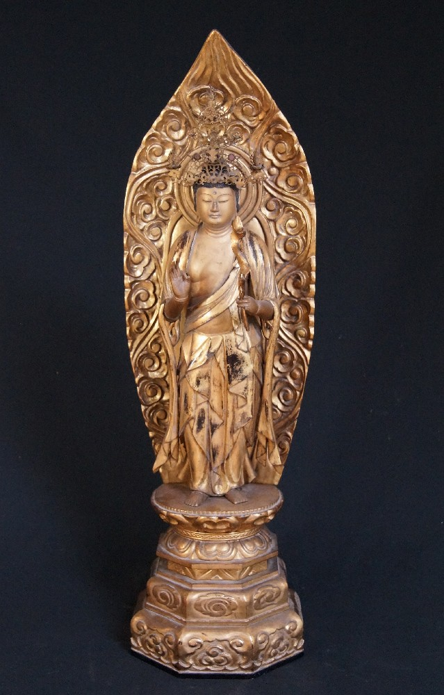 Large antique Japanese Kannon from Japan made from Wood