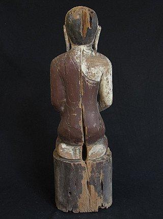 Antique wooden monk