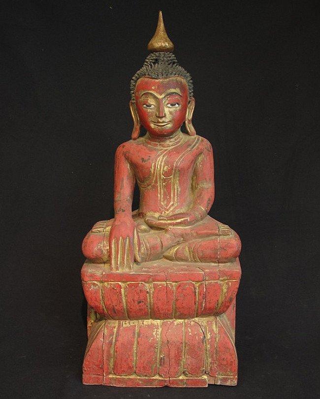 Antique Burmese Ava Buddha