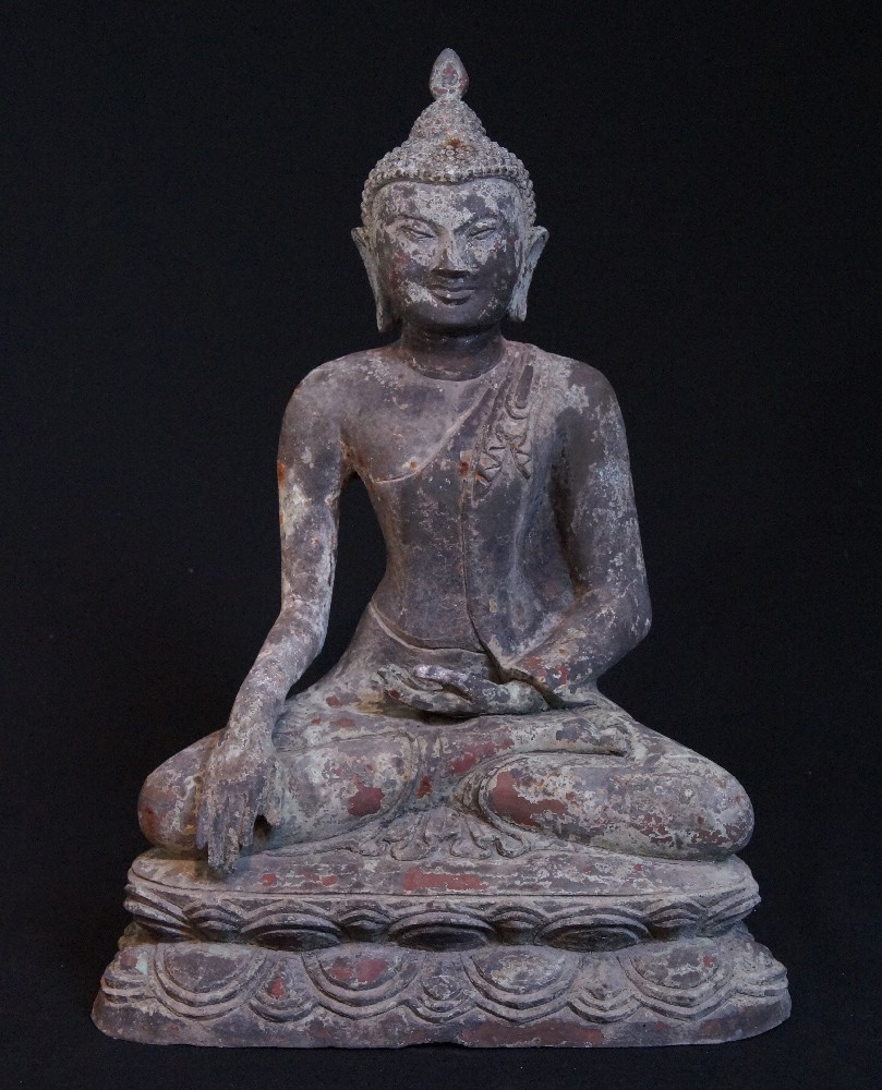 Old bronze Pagan Buddha from Burma