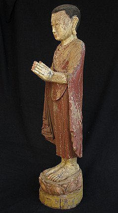 Antique standing monk