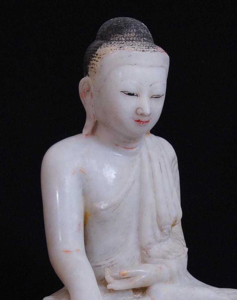 Antique Mandalay Buddha from Burma made from Marble