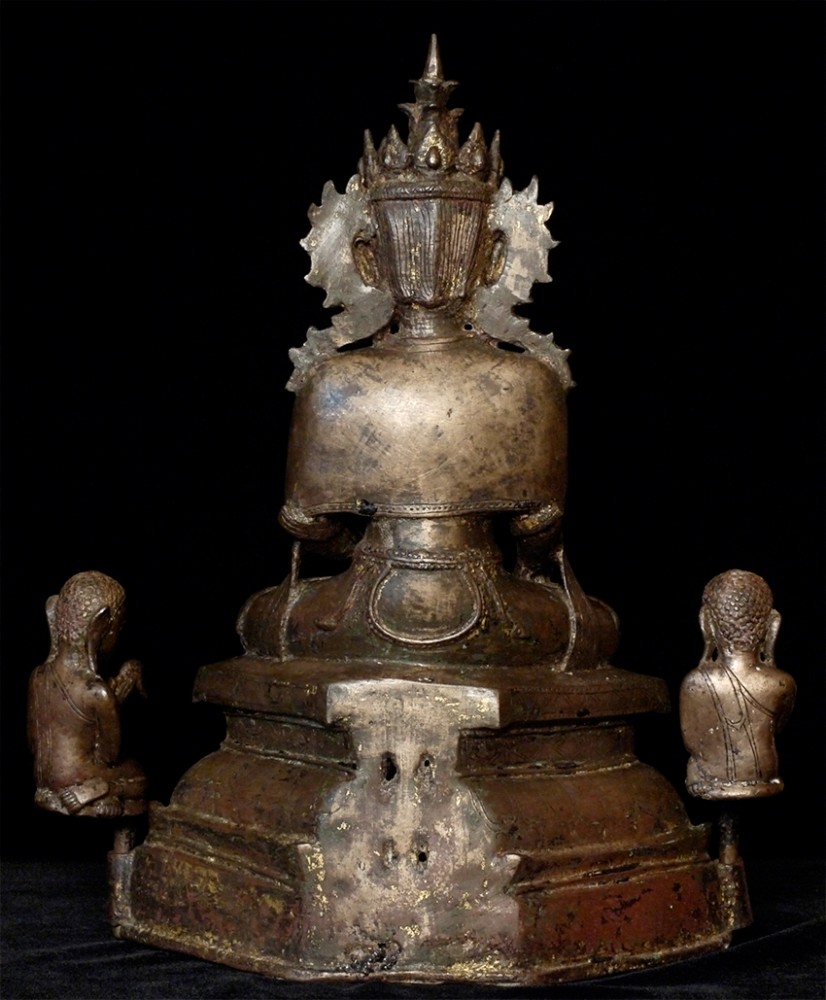 15-16th century Burmese Arakan Buddha from Burma made from Bronze