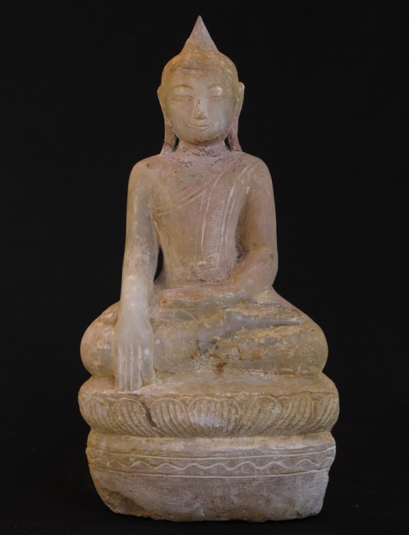 Antique Buddha from Burma made from Marble