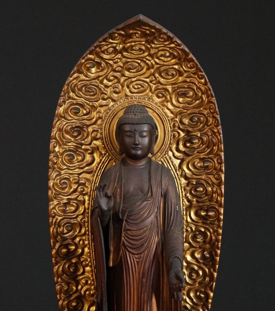antike japanische amida buddha aus japan gemacht aus holz. Black Bedroom Furniture Sets. Home Design Ideas
