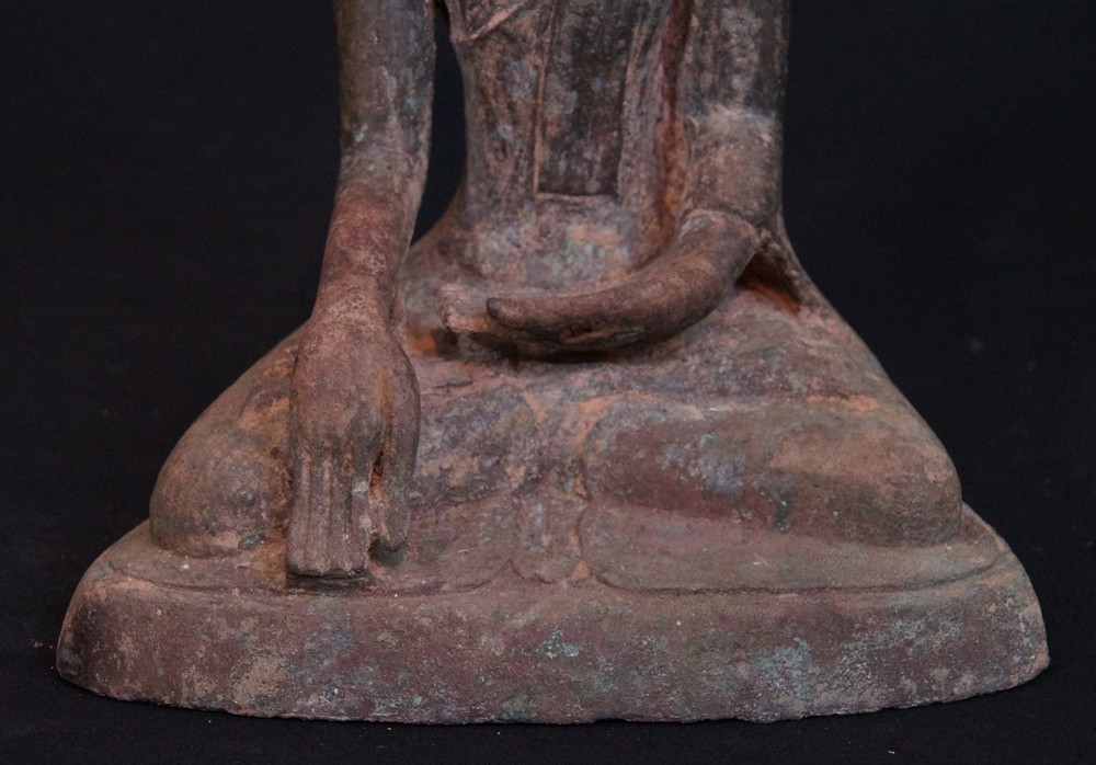 Antique Inwa Buddha from Burma made from Bronze