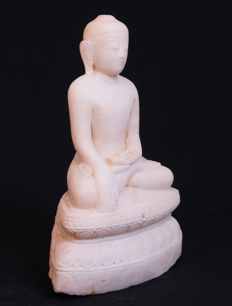 Antique Shan Buddha from Burma made from Marble