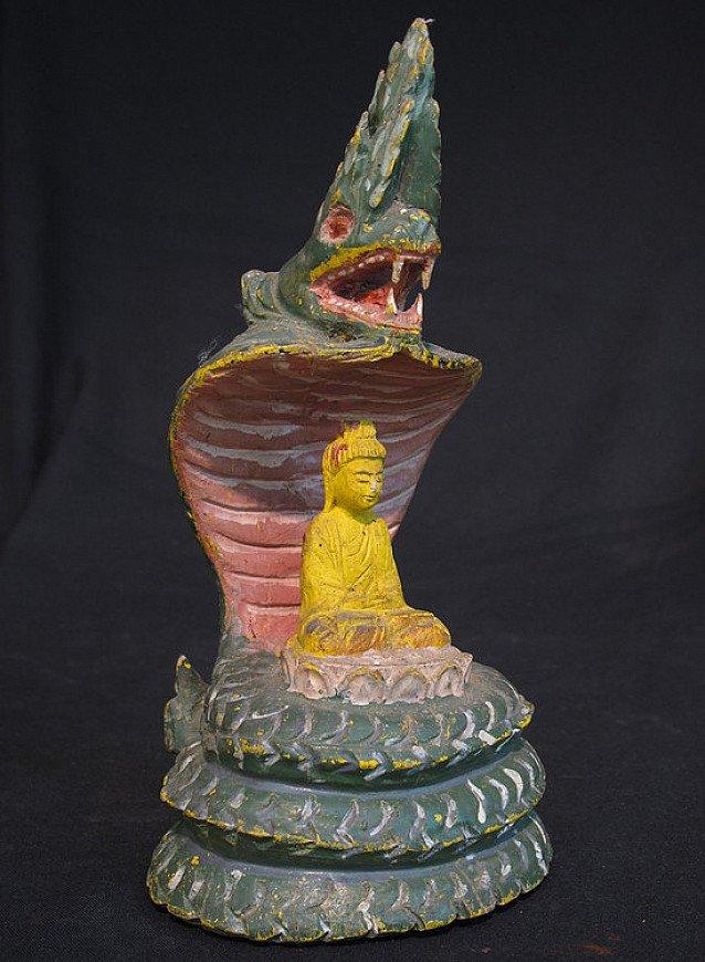 Old Buddha on Naga snake