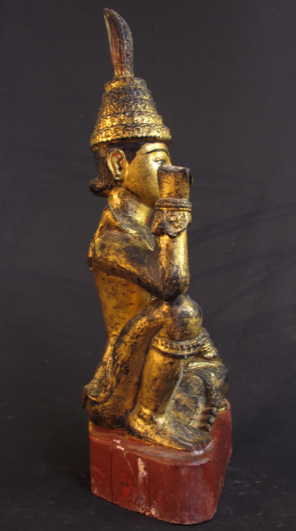 Antique Burmese Nat from Burma made from Wood