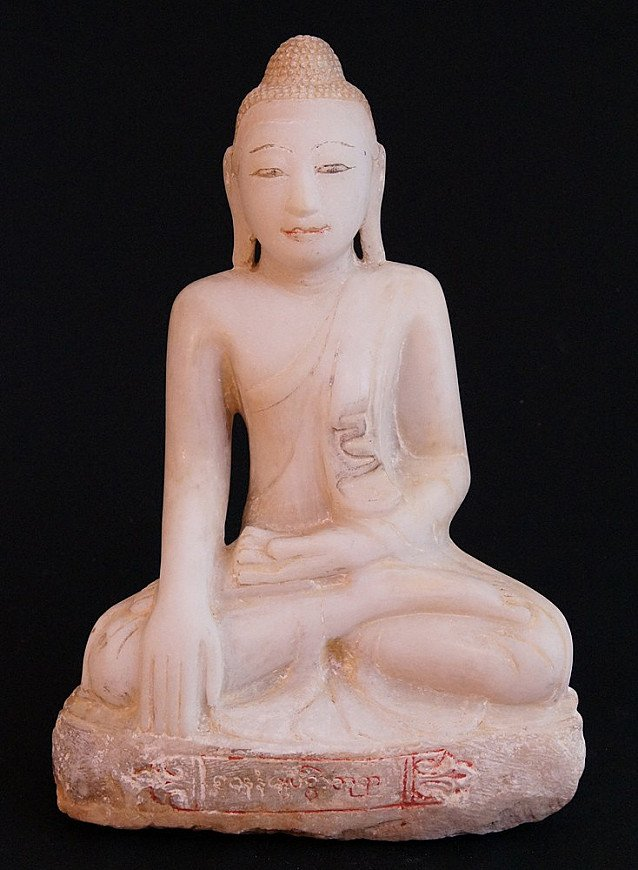 Antique Alabaster Buddha
