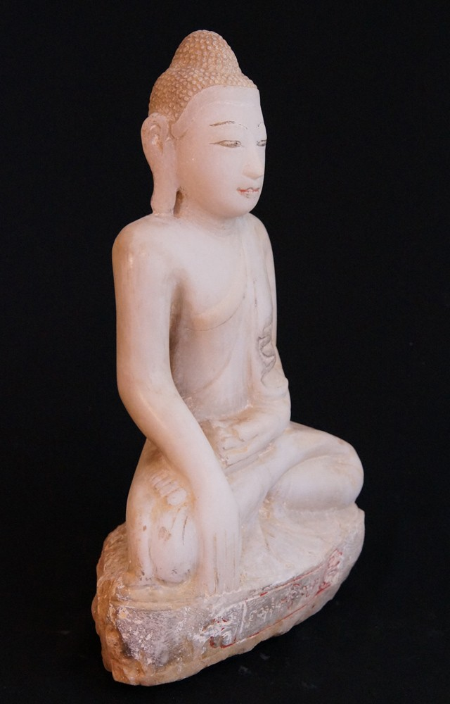 Antique Alabaster Buddha from Burma made from Marble